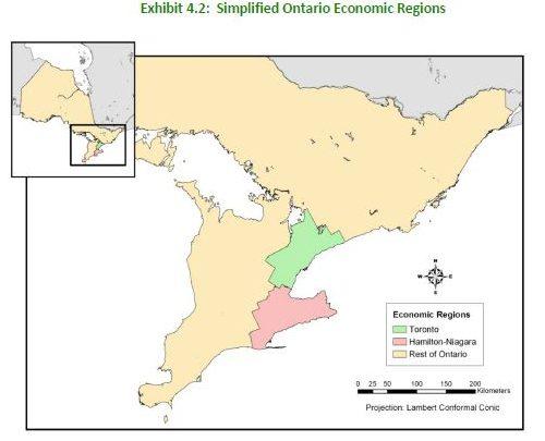 Simplified Ontario Economic Regions