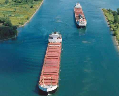 hips travelling through the St.Lawrence seaway